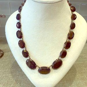 Antique Czech Facet Cut Glass Necklace